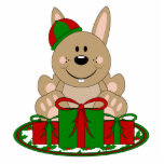 Conejito del regalo de Navidad de Cutelyn Brown Escultura Fotografica