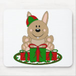 Conejito del regalo de Navidad de Cutelyn Brown Alfombrilla De Ratón