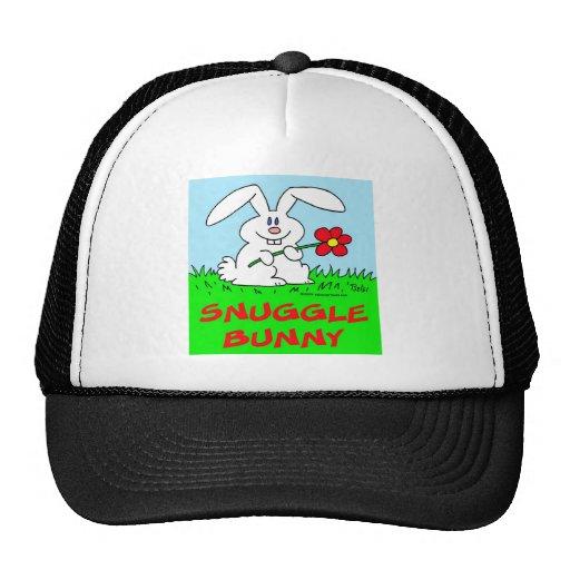 conejito del snuggle de la flor del conejo gorros