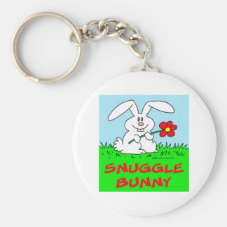 conejito del snuggle de la flor del conejo llavero