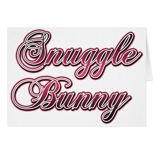 Conejito del Snuggle Tarjeta De Felicitación