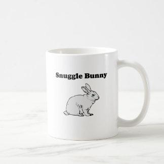 Conejito del Snuggle Tazas De Café