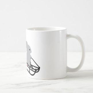 conejito del trineo tazas de café