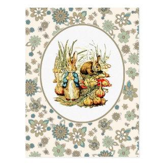 Conejito del vintage de Beatrix Potter. Postales d