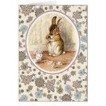Conejito del vintage de Beatrix Potter. Tarjetas d