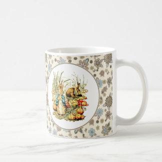 Conejito del vintage de Beatrix Potter. Tazas del