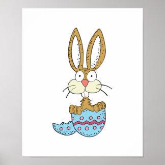 conejito divertido en el huevo de Pascua Impresiones