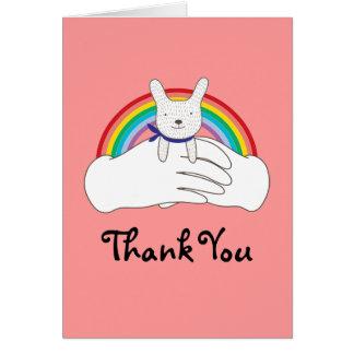 Conejito dulce tarjeta de felicitación