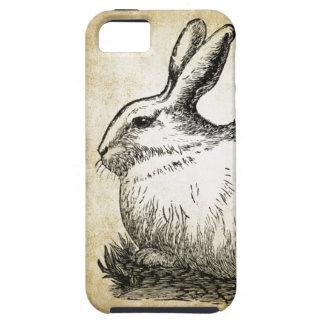 Conejito elegante lamentable del conejo blanco funda para iPhone 5 tough