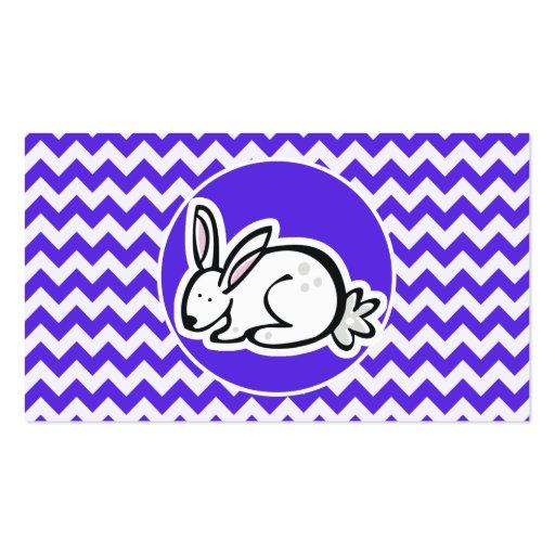 Conejito en Chevron violeta azul Tarjeta De Visita