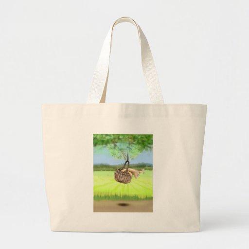 conejito en el balanceo de la cesta bolsas de mano