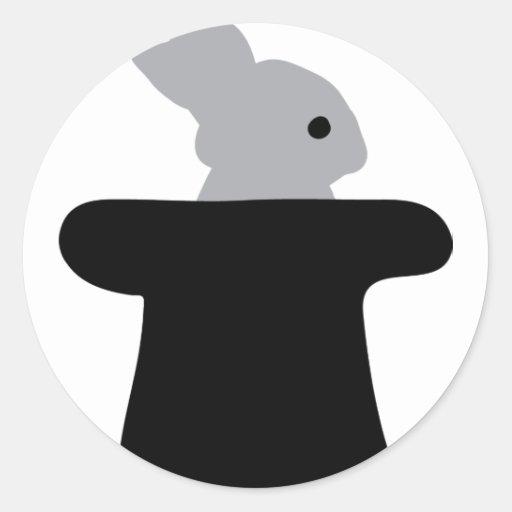 conejito en icono del primero pegatina redonda