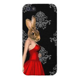 Conejito en vestido rojo iPhone 5 carcasas