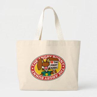 Conejito enojado poco bolso 1 bolsa de mano