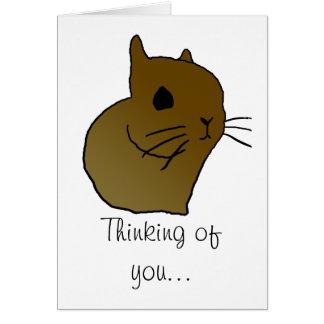 conejito espigado corto, pensando en usted… el | c tarjeta de felicitación