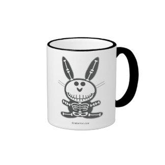 Conejito esquelético tazas de café