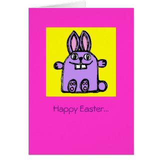¡Conejito feliz de Pascua Hunny! Tarjeta De Felicitación