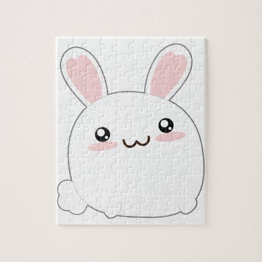 Conejito gordo lindo - mullido adorable del conejo rompecabezas con fotos