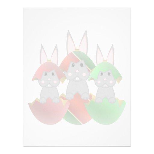 Conejito gris en ornamentos del navidad plantilla de membrete