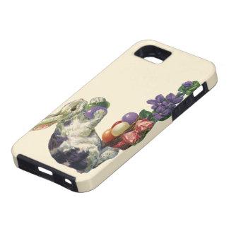 Conejito huevos y flores de pascua del Victorian iPhone 5 Case-Mate Cárcasa