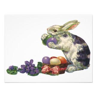Conejito, huevos y flores de pascua del Victorian  Anuncios