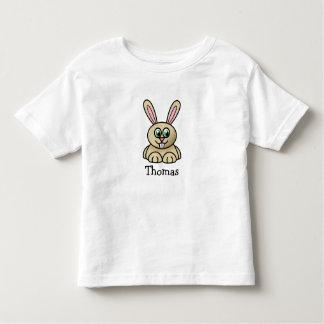 Conejito lindo del dibujo animado personalizado playera de bebé