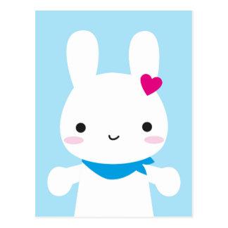 Conejito lindo estupendo de Kawaii Tarjetas Postales