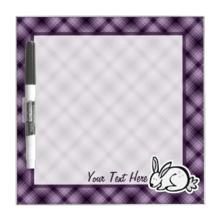 Conejito lindo; Púrpura Tablero Blanco