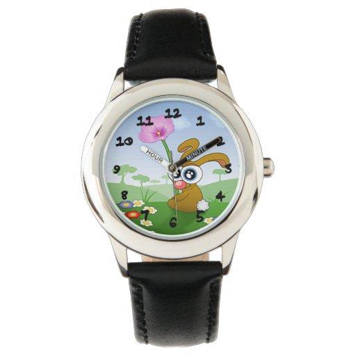 Conejito lindo reloj de mano