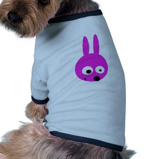 Conejito loco camiseta con mangas para perro