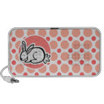 Conejito; Lunares rosados y coralinos iPod Altavoces