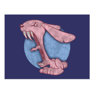Conejito malvado rosado postales