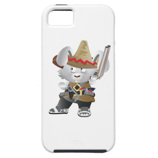 Conejito mexicano del bandido funda para iPhone 5 tough