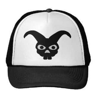 conejito negro de Halloween Gorras De Camionero