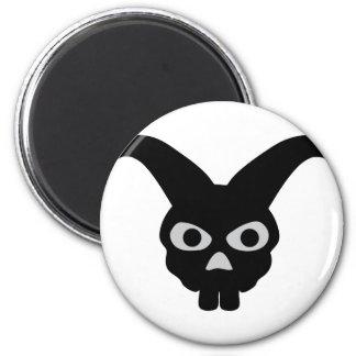 conejito negro de Halloween Imán Redondo 5 Cm