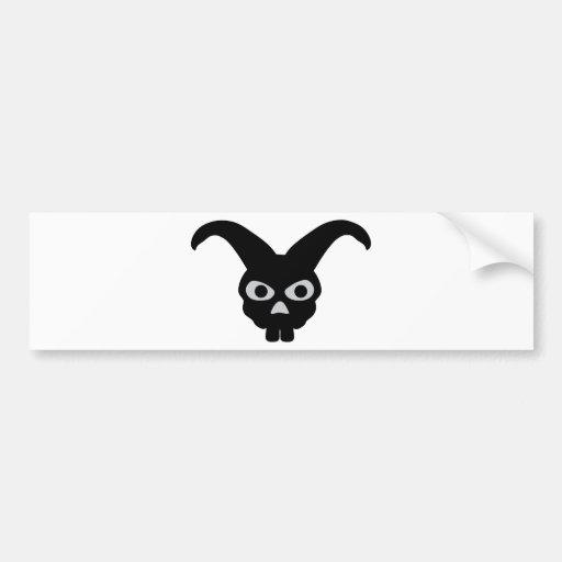 conejito negro de Halloween Pegatina De Parachoque