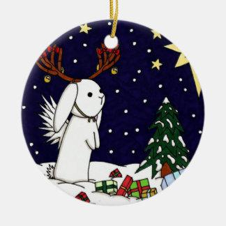 Conejito Nevado de Flutterby Ornamentos De Navidad