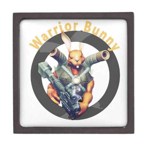 Conejito Nukem del guerrero Caja De Recuerdo De Calidad