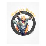 Conejito Nukem del guerrero Membrete A Diseño