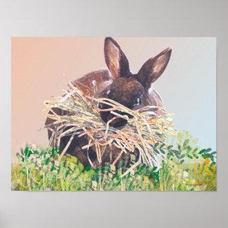 Conejito o jerarquía de pascua que hace el conejo  impresiones