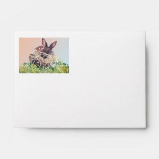 Conejito o jerarquía de pascua que hace el conejo