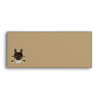 Conejito oscuro de la trufa de chocolate sobres
