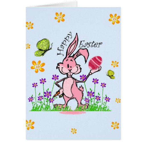 Conejito para Pascua Tarjetón