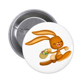 ¡Conejito Pascua en el flojo!! insignia del botón  Pin Redondo De 2 Pulgadas