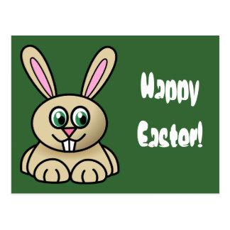 ¡Conejito Pascua feliz de Brown pascua! Postal