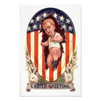 Conejito patriótico del huevo de Pascua de la Fotografías