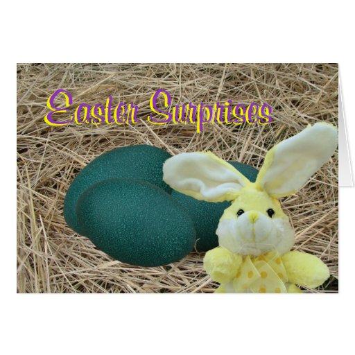 Conejito-personalizar chocado de Pascua Felicitaciones