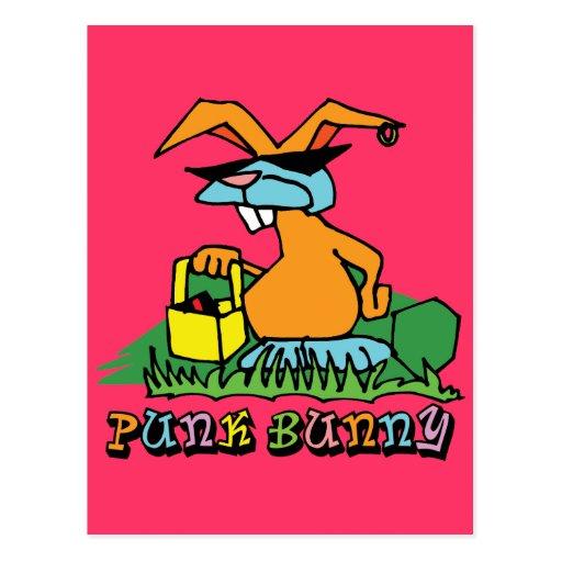 Conejito punky tarjeta postal