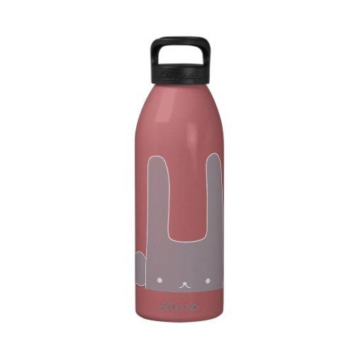 conejito púrpura botella de agua reutilizable