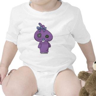 Conejito púrpura del Beanbag Traje De Bebé